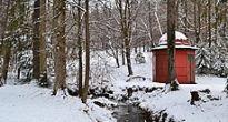 Zimná prechádzka v parku kaštieľa v Betliari