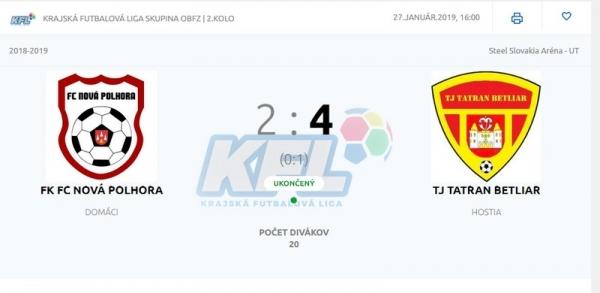 Tatran Betliar udáva tempo v Krajskej futbalovej lige
