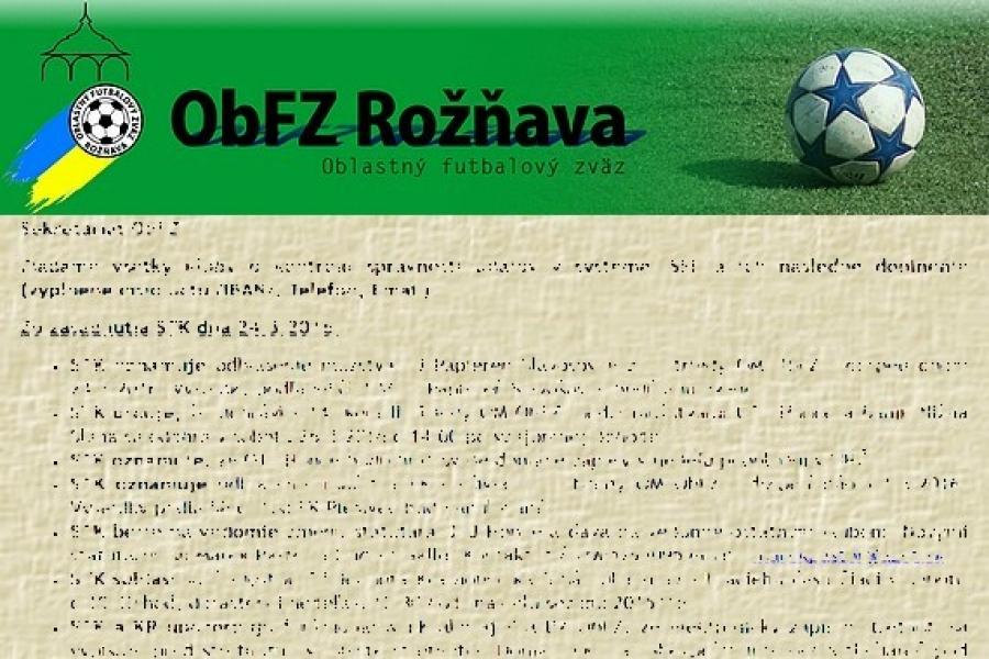 2de4560558e5 Úradná správa ObFZ Rožňava č. 28   2015-2016